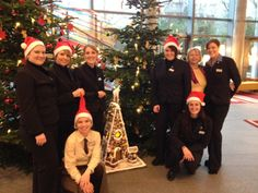 Christmas at #RadissonBlu hotel in #Frankfurt is celebrated with Christmas trees in the lobby and the Gingerbread house. http://www.radissonblu.de/hotel-frankfurt