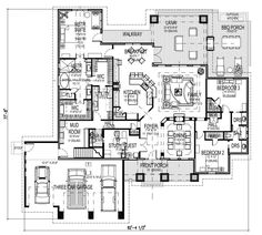 First Floor Plan w/ Bonus Room Stair image of Featured House Plan: BHG - 9167