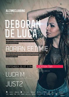 Deborah de Luca - first time in Bucharest - September Bucharest, First Time, September, Parties, Music, Youtube, Movie Posters, Fiestas, Musica