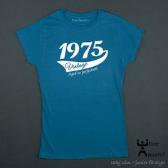 40th Birthday Gift For Woman 1975 Vintage Aged To Perfection T shirt ideal present for women celebrating a fortieth birthday, Utter Apparel