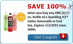 FREE Bottle of a Sparkling ICE Water on http://www.icravefreebies.com/