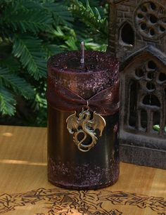 Dragons Blood . 2x3 Pillar Candle . Pure by WhiteMagickAlchemy, $12.95