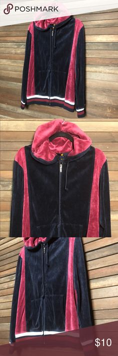 Vintage Velour Full Zip Oversize Banded Hoodie Impeccable condition. From the 90's. Great vintage fashion!   Size: XL                             G1  All measurements were taken with the garment laying flat (please give .25 inches allowance due to differing measuring techniques):  Sleeve: 30.5 inches  Bust: 24.25 inches Waist: 21 inches  Length: 28.5 inches Mandarine Jackets & Coats