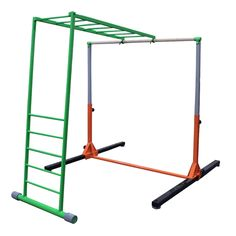 ELITE™ KIDS GYM Monkey Bars Product Overview Constructed of rectangle and round tubing with a rubber base to prevent slipping Includes hardware Kids Gym, Gym Mats, Wardrobe Rack, Monkey, Bar, Athletics, Basement, American, Home Decor