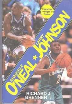 Shaquille O Neal Magic Larry Johnson Hornets Basketball 1993 Paper Back  Book Larry Johnson 60253e440