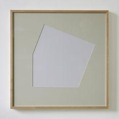 Hartmut Böhm, Hybridform 7, 22.5°, 2007, Frame and mat board, 70 x 70 cm, framed 72.4 x 72.4 cm; Photo: Monika Brandmeier