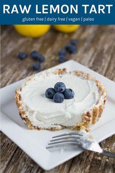 Raw Lemon Tart. The perfect dessert to serve to guests and they are gluten, dairy and refined sugar free. WINNING!! #rawdessert #vegan #glutenfree #dairyfree | becomingness.com.au