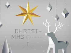 One of my favorite rejected options for this years Christmas sermon series at Victory. All done in illustrator. I was trying to go for a mashed up style between low poly and geometric paper art,...