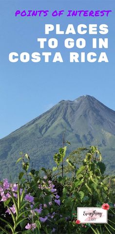 #CostaRica #ArenalVolcano | Points of Interest: Places to go in Costa Rica | Points of Interest: Places to go in Costa Rica | Located in the heart of Central America, Costa Rica is one of the places where you bond with nature and experience sustainable tourism at the same time.