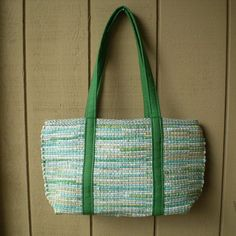 Hey, I found this really awesome Etsy listing at https://www.etsy.com/listing/266418377/handwoven-large-tote-in-green-and-aqua