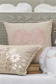 Buy Digi Love Heart Cushion from the Next UK online shop Cute Pillows, Bed Pillows, Decor Pillows, Large Cushions, Scatter Cushions, Heart Cushion, Cute Cottage, Granny Chic, Flower Pillow