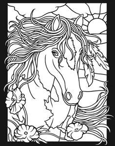 Horses 3-D Coloring Book, Dover Publications