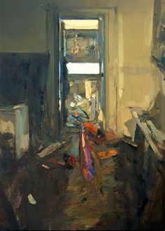 Interior #133 (Nocturne). Oil on wood, 70 x 50 cm *SOLD*