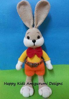 Bunny Goes To School-Amigurumi Crochet Pattern by BalimOrgu