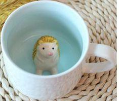 Ceramic Mug With Hedgehog Inside