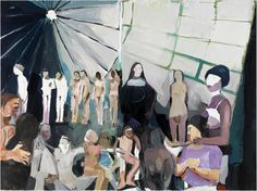 Helen Verhoeven The Arrival of Late Lucys, oil on canvas, 59 x 79 inches / 150 x 200 cm, 2011