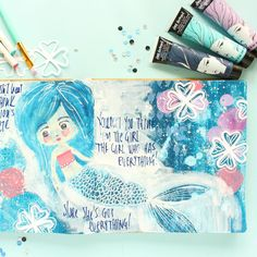 How about some more art journaling using beautiful cut files from @thecutshoppe? I had a ton of fun creating this underwater seascape with the gorgeous @janedavenport paints. Make sure to stop by the Cut Shoppe blog for all the details and watch the process video on my YouTube channel (search Zinia Amoiridou). #thecutshoppe #cutfiles #silhouette #silhouettecameo #dylusions #artjournal #art #artjournaling #painting #abstractart #ziniaamoiridou #abstractinspiration #janedavenport…