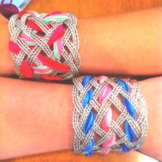 Woven chain bracelets.... Fun and easy project!!