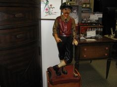 Charming old-time golfer statue makes a wonderful gift for the golfer in your life     This ceramic golfer stands about 2 feet tall and will make a superb addition to the decor of a dyed-in-the-wool golfer's man-cave, den, or bar. If you have any birthdays coming up for a golfer friend or family member, here is a great opportunity to present something unique and thoughtful. Share the love and come pick him up today.  Rebound Furniture & Decor Consignment  21723 Vanowen Street…