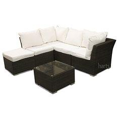 Roe Garden Premium Modular Rattan Corner Sofa, for conservatory, garden, patio furniture