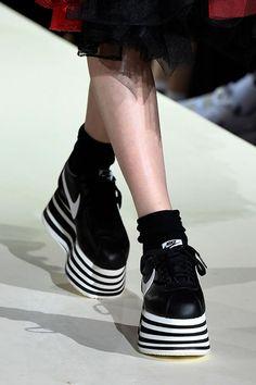 size 40 053e7 11219 COMME des GARÇONS Reveals New FW18 Platform Nike Cortez at PFW