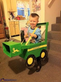 My Grand son wants to be this I guess I have to make !!John Deere