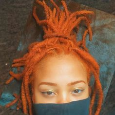 I'm deciding what hair color I wanna do for my locs and I'm definitely leaning for this orangey color Cute Hairstyles, Straight Hairstyles, Curly Hair Styles, Natural Hair Styles, Dreadlock Styles, Texturizer On Natural Hair, Hair Reference, About Hair, Textured Hair