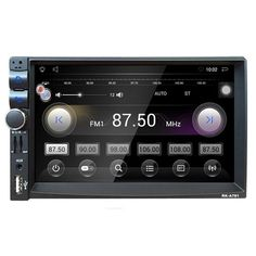 7 inch Car GPS Navigation Audio Player FM USB SD AUX Bluetooth Touch Screen Panel In-Dash Android Universal