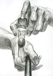 多摩美術大学グラフィックデザイン学科合格デッサン作品再現