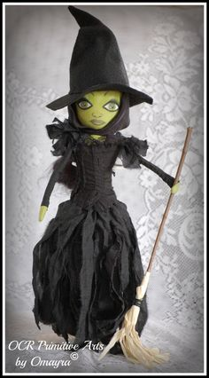 The Wicked Witch of the West Inspired  Textile by OCRPrimitiveArts, $110.00