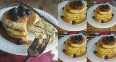 This protein pancakes recipe makes fluffy, filling and tasty pancakes. Plus they are only 4 ingredients! With NO white flour or sugar. Enjoy!