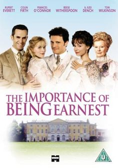 """Directed by Oliver Parker.  With Rupert Everett, Colin Firth, Frances O'Connor, Reese Witherspoon. In 1890s London, two friends use the same pseudonym (""""Ernest"""") for their on-the-sly activities. Hilarity ensues."""