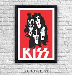 Poster Kiss Faces