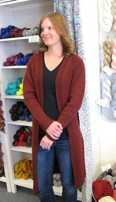Knitting Pure and Simple - 1405 - Long Open Cardigan