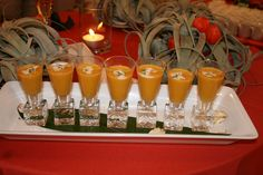 carrot and ginger soup shooters