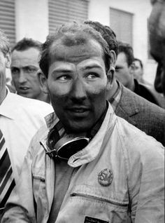 Stirling Moss after his epic win of the 1955 Mille Miglia.