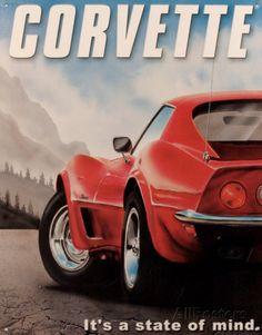 Corvette Emaille bord bij AllPosters.nl