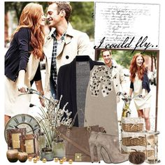 Neutral and navy created by sara-jelena on Polyvore