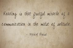 Reading, Marcel Proust