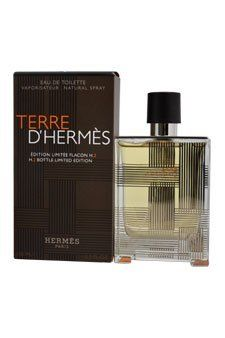 Terre D'Hermes by Hermes for Men 3.3 oz Eau de Toilette Spray Limited Edition H.2 Flacon Bottle Terre D'Hermes by Hermes for Men 3.3 oz EDT Spray Limited Edition H.2 Flacon Bottle: Buy Hermes Men's Colognes - An alluring, fresh flavor, created for the dynamic man who walks into a room and owns it. This honest, powerful combination of sparkling Citrus, Pepper, Cedar and Patchouli will not be ignore... #Hermes #Beauty