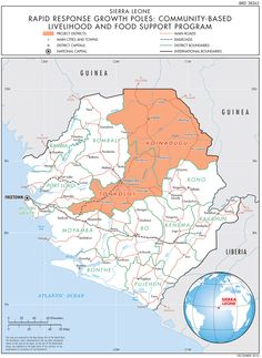 Map of Sierra Leone | West Africa | Pinterest | Sierra leone