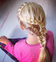 lace braids, french braids, back-to-school hair