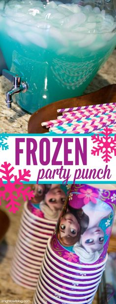 Frozen Party Punch: One can Lemonade concentrate, 2 cans of water, 1 two liter of lemon-lime soda, 3 squirts Icee Zero Blue Raspberry Liquid Water Enhancer, Ice