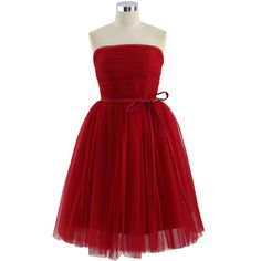 Chicwish Endless Red Tulle Bustier Mesh Prom Dress ($84) ❤ liked on Polyvore featuring dresses, red, red dresses, night out dresses, party dresses, red cocktail dress, prom dresses and cocktail party dress