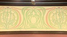 Charles Rennie Mackintosh wall frieze at Glasgow Art Club