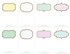 Elegant Sheek Shindigs Pretty Printable Place Cards Table Name Tags Template Printable Printable Place Cards, Printable Labels, Free Printables, Printable Shapes, Note Card Template, Card Templates, Border Templates, Planner, Name Cards