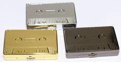 Cigarette Tobacco Case AUDIO CASSETTE TAPE TYPE Metal Cigarette Storage Box 80mm