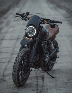 Gorm Taube is a graphic designer and photographer raised on the west coast of Sweden, but currently residing in Ventura, California. When he decided to move to the US he made the decision to purchase a bike for his commuting, so he found a killer dea Ducati Custom, Ducati Scrambler Custom, Cafe Racer Motorcycle, Motorcycle Design, Motorcycle Helmets, Triumph Motorcycles, Custom Motorcycles, Custom Bikes, Tracker Motorcycle