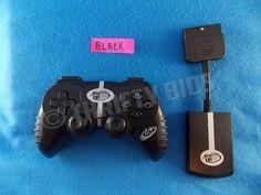Mad Catz Wireless MicroCon Mini Controller Gamepad & Receiver for PS2 Black 8386 #MadCatz