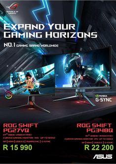 Asus Rog Swift Gaming Monitors 1 Pixel, Counter Display, Asus Rog, Mechanical Design, Hdmi Cables, Swift, Monitor, Gadgets, Gaming